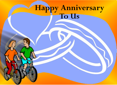 Cycling Couples Anniversary to Your Spouse