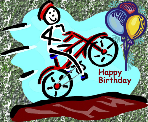 Alluring Bicycle Birthday eCards 3