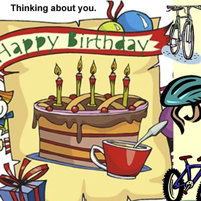Alluring Bicycle Birthday eCards 1