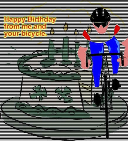 Alluring Bicycle Birthday eCards 2